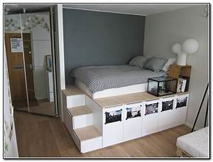 Loft bed with stairs plans free beds home furniture for Marvelous meuble gain de place pour studio 0 home interior design ideas make the best out of the
