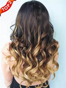 Long Dark Black And Brown Hair Color With Blonde