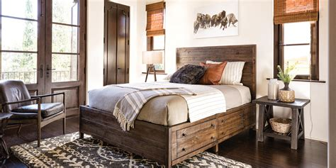 Country/rustic Bedroom Rowan With Bed