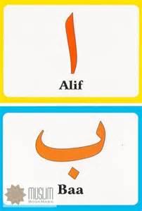 Arabic Alphabet Flash Cards Printable