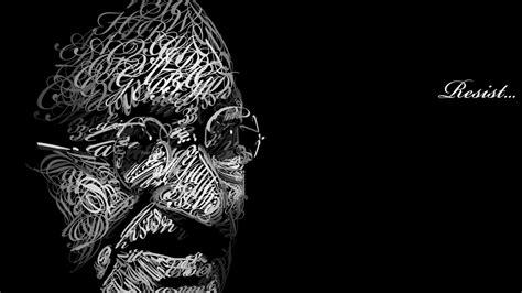 creative gandhi wallpaper 1366