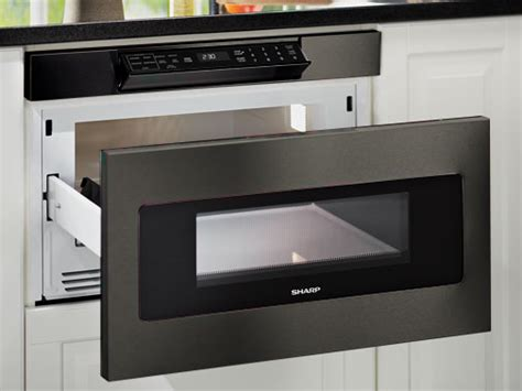 kitchen sharp microwave drawer dream home pinterest smd2470ah 24 quot black stainless steel microwave drawer