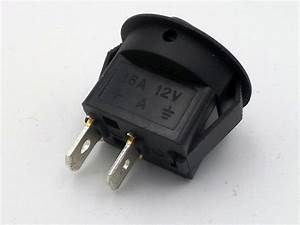 12 Volt 16 Amp Round Mini Rocker Automotive Switch