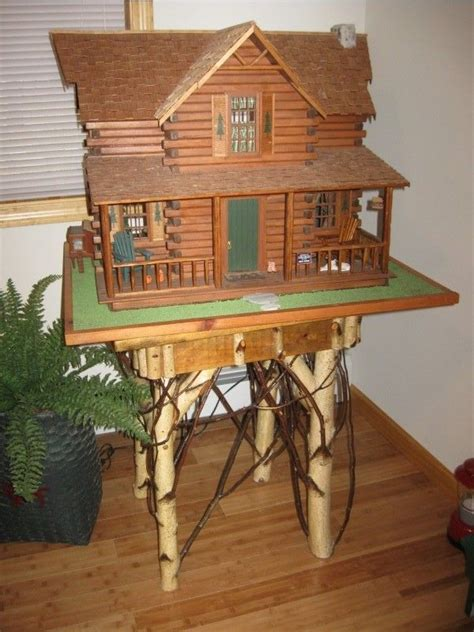 handmade rustic cabin dollhouse canvas photo gifts