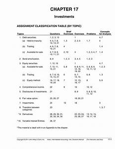 Chapter 17 - Solution Manual
