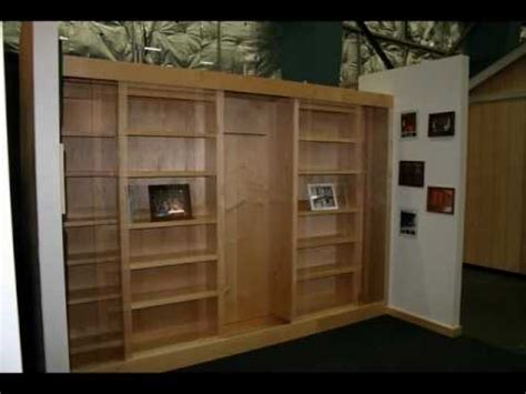 hidden murphy bed bookcase wall unit the best bookcase murphy bed youtube
