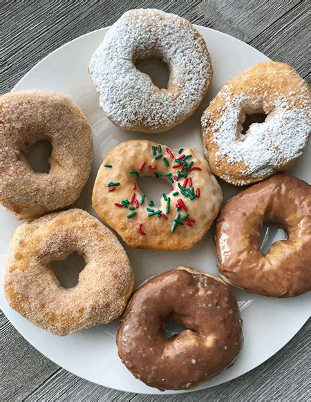 air fryer biscuit donuts easy dough recipe donut kinds biscuits doughnuts recipes doughnut ingredients cookie cutter passionatepennypincher holes