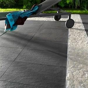 Carrelage Extérieur Terrasse : carrelage terrasse anthracite 30 x 60 cm lounge ~ Voncanada.com Idées de Décoration