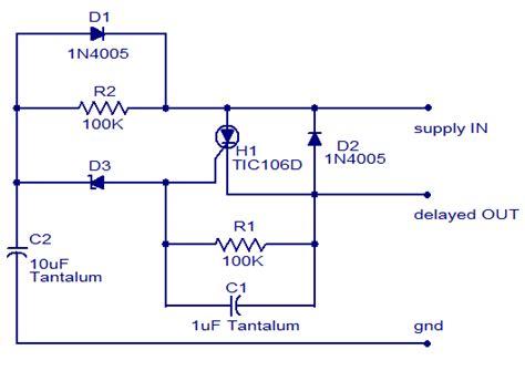 Scr Power Delay Circuit Simple Schematic Diagram