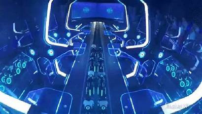 Shanghai Coaster Roller Disneyland Ride Tron