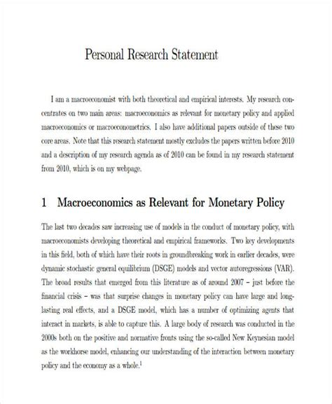 Professional Phd Personal Statement Exle by Research Statement Template Merrychristmaswishes Info