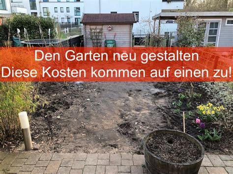 Den Garten Neu Gestalten  Diese Kosten Kommen Auf Einen