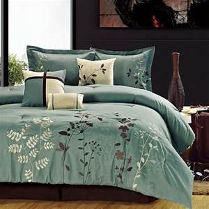 Bliss, Garden, Beige, Comforter, Bed, In, A, Bag, Set, 8, Piece