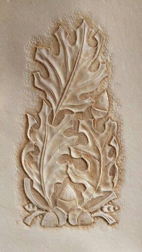 oak leaf pattern leather carving leather tooling