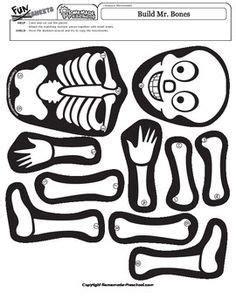 build  bones skeleton  images halloween lesson