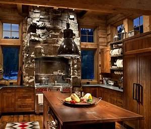 La cuisine rustique contemporaine au centre des residences for Meuble de cuisine rustique 16 cuisine les accessoires astucieux