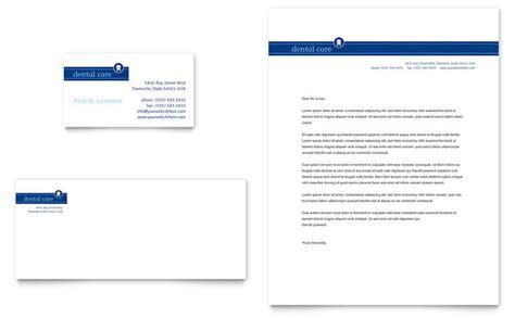 dentist office business card letterhead template design