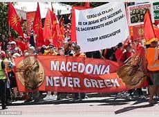 MacedonianAustralians rally to protest for Macedonia's