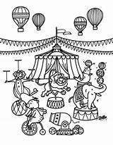 Circus Coloring Printable Museprintables Train Elephant Carnival Sheets Themed Template Animal Theme Ringling Animals Pdf Brothers Whitesbelfast Sketch sketch template