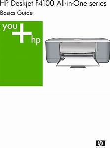 Hp Deskjet F4135 All In One Printer Basic Manual F4100