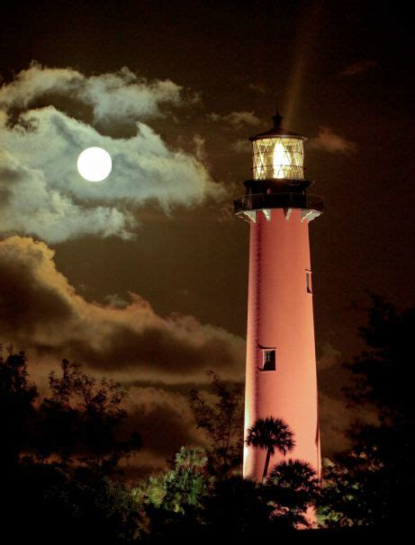 Full Moon and Lighthouse
