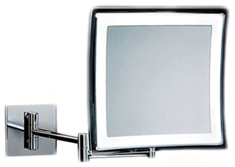 Wall Hard Wired Rectangular Led Lighted 5x Magnifying