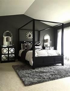 Black And White Master Bedroom Decorating Ideas Black ...
