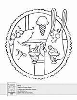 Ice Cream Coloring Scholastic Activity Shops Activities sketch template