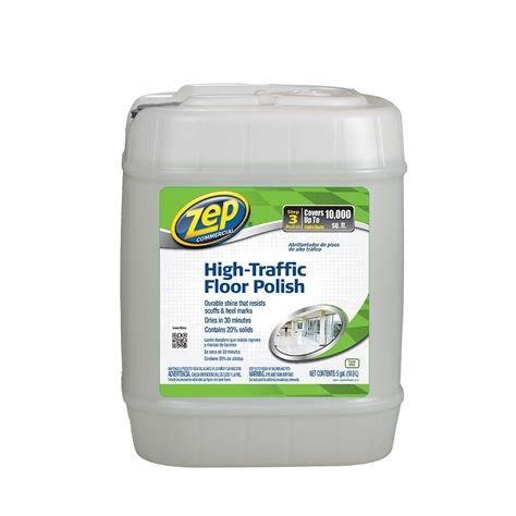 zep high traffic floor finish 5 gal zep 5 gallon high traffic floor zuhtff5g the home