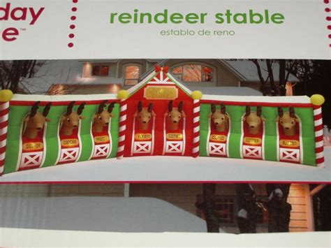 9 best images about reindeer stable christmas inflatable