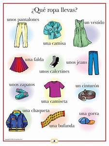 Spanish Clothing Poster   Spanish Worksheets and Learn spanish