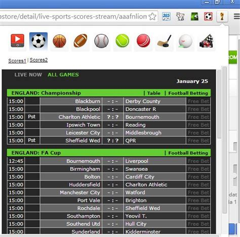 Livescore brings you the latest live sports scores, updates, videos and breaking news. 5 Chrome Extensions To See Live Soccer Scores