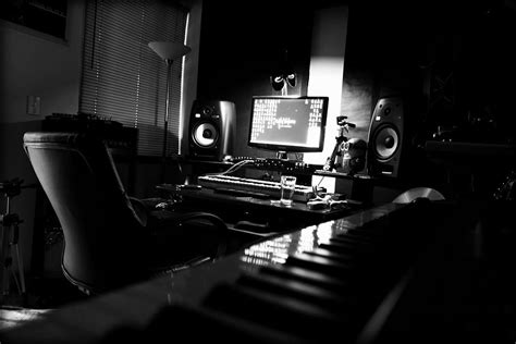 black white home studio infamous musician