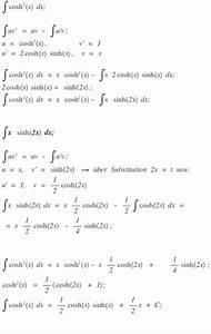 Aufleitung Berechnen : integralrechnung integral von cosh 2 x dx durch partielle integration berechnen mathelounge ~ Themetempest.com Abrechnung