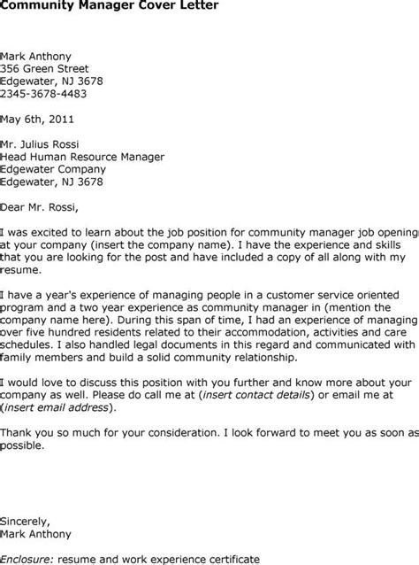 manager cover letter the exle shows how to