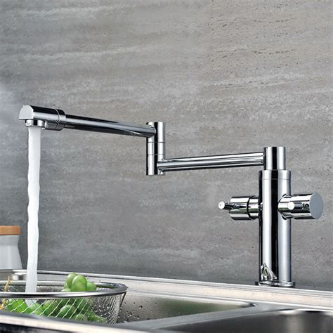 robinet de cuisine rabattable installez un robinet de cuisine rabattable pour plus de style