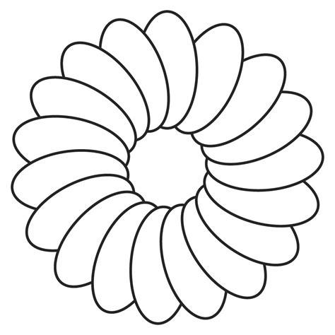 daisy template printable clipart