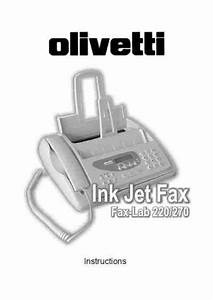 Olivetti Fax Lab 220 Fax Download Manual For Free Now