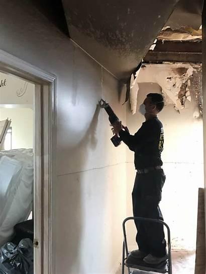 Ceiling Water Damage Upstairs Pipe Burst Condo