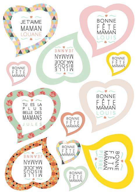 chambre fille et gris stickers repositionnables et personnalisées pour la fête des mères