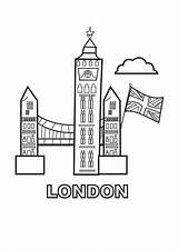 London Coloring Ben Landmark Landmarks Colouring Sheets Sun Coloringsun sketch template