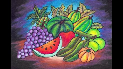 kumpulan gambar untuk belajar mewarnai sketsa gambar buah