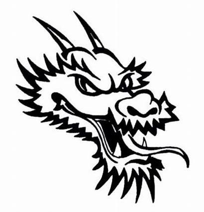 Dragon Tribal Tattoo Head Simple Tattoos Designs