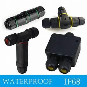 Waterproof Ip68 Outdoor 3 Way Junction Box 3 Pin