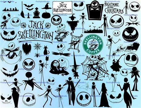 Nightmare Before Christmas Svg Bundles  – 324+ File for Free