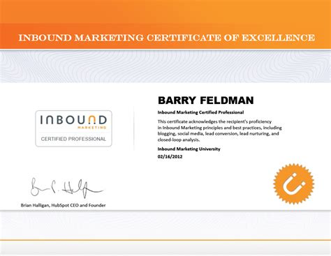 free advertising courses with certificates feldman creative achieves inbound marketing certification