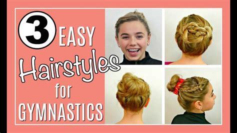 easy hairstyles  gymnastics  messy bun tutorial