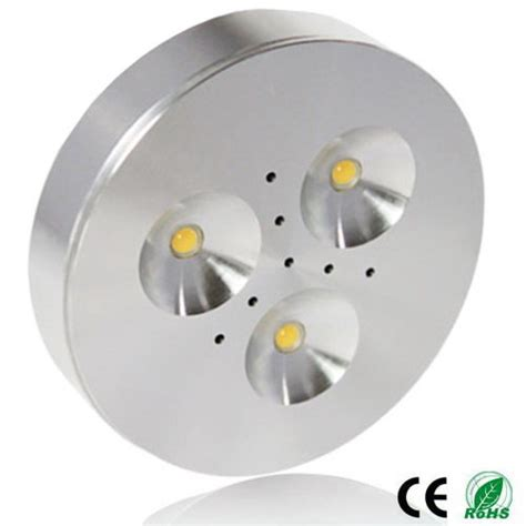 3w surface or recessed cabinet led puck lights set