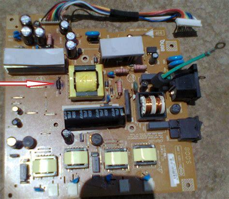 solucionado diodo 243 zener quemado en monitor hp l 1755