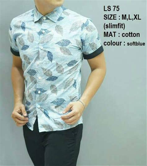 jual baju kemeja batik pria slim fit luigibatani modern